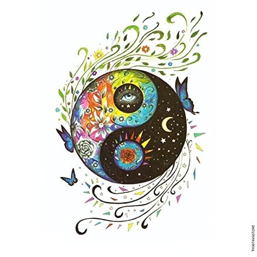 Avastore - Tatuaggio temporaneo'Amour and Paix Yin and Yang'