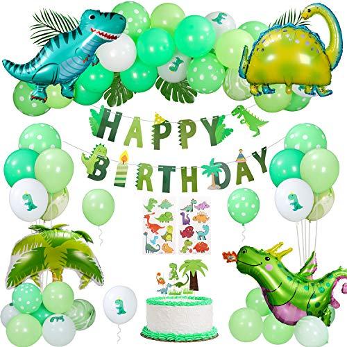 Gafild Palloncini Decorazioni Compleanno Dinosauro,Addobbi Compleanno di Figlio Tema Giungla Decorazione Festa per Ragazzo Compleanno Decorazioni