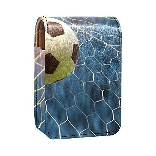 Porta rossetto Mini porta rossetto Calcio a calcio online Borsa organizer con specchio per borsetta porta cosmetici da viaggio
