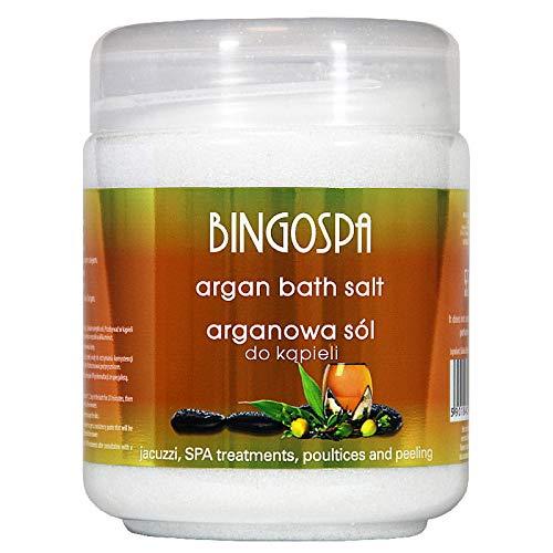 BINGOSPA Sali da bagno Argan per idromassaggio, trattamenti SPA e peeling - 550g