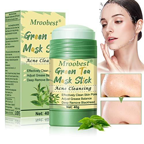 Maschera Detergente, Deep Cleansing Mask, Green Tea Mask Stick, Una maschera con ingredienti di tè verde, Rimuove efficacemente l'acne, Purifica la pelle, Migliora la secchezza e la tenuta della pelle