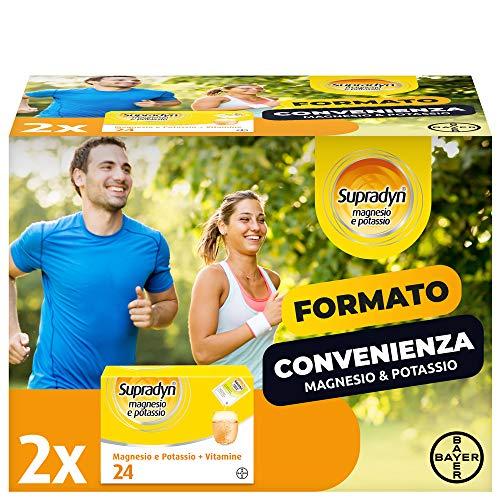Supradyn Integratore Multivitaminico Magnesio e Potassio, con 5 Vitamine, Per Afa, Caldo, Attività Fisica e Supporto Funzione Muscolare, Maxi Formato 24 + 24 Bustine, 200 Ml