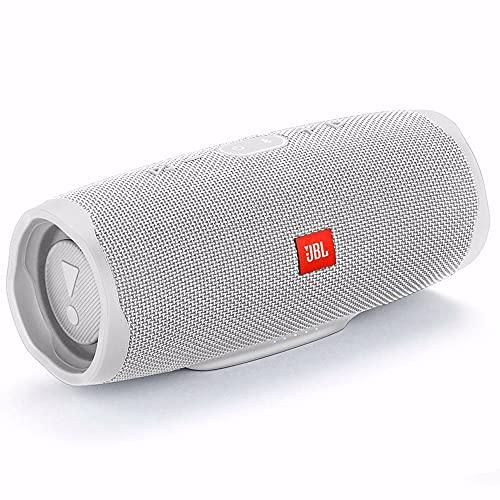 JBL Charge 4 Speaker Bluetooth Portatile, Cassa Altoparlante Bluetooth Impermeabile IPX7, Con Microfono, Porta USB, JBL Connect+ e Bass Radiator, fino a 20 Ore di Autonomia, Bianco