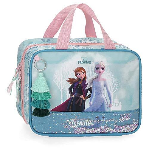 Disney Frozen Find Your Strenght Beauty case da viaggio Azzurro 25x20x11 cms Poliestere