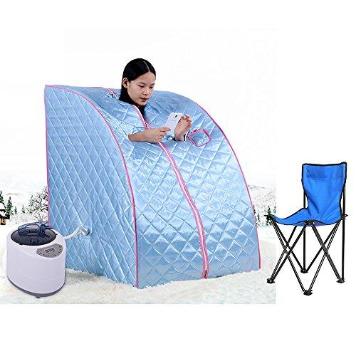 Flyelf Sauna Portatile Personale Spa Detoxify Perdere Peso 98 x 70 x 80 cm 1.8L 3 Colore (Blu)