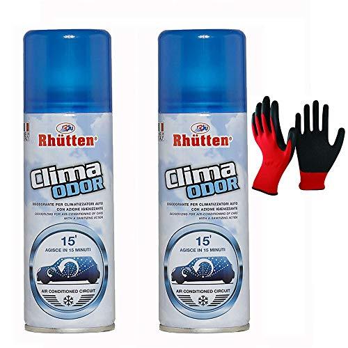 2x175ml Clima Odor  Spray Auto Climatizzatore  Autosvuotante in 15 minuti  Igienizzante Purificante Neutralizza i Cattivi Odori, per Condizionatori, Tessuti, Sedili Auto e Veicoli
