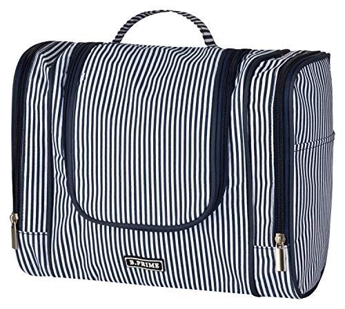 B.PRIME Beauty Case CLASSIC XL Blue navy - Necessaire spazioso da appendere - 28 x 13 x 22 cm