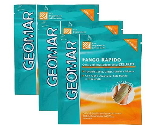 Geomar - Fango Rapido Monodose, contro gli Inestetismi della Cellulite - 3 confezioni da 80 ml