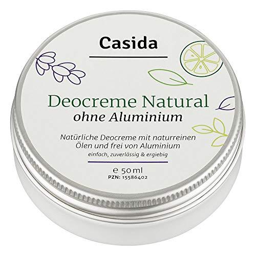Casida - Crema Deodorante Naturale senza alluminio - crema deo con oli naturali puri - protezione sicura contro gli odori di sudore - la qualità delle farmacie - 50 ml