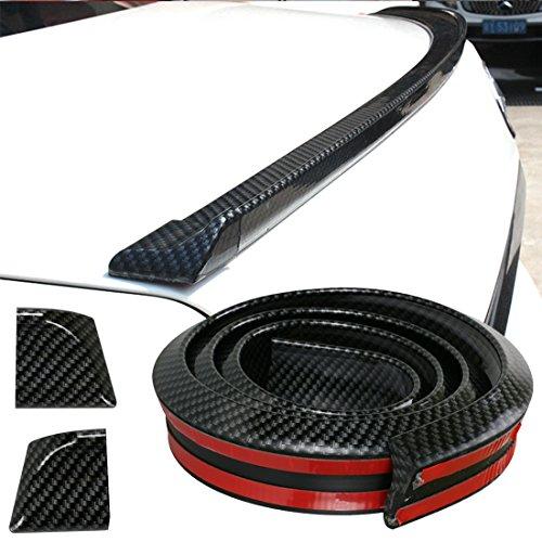 Auto Labbro Posteriore, GOGOLO 4.9ft/150CM Universale Auto Spoiler posteriori tetto Spoiler per SUV Paraurti Posteriore Labbro, 100% Protezione Impermeabile, Nero