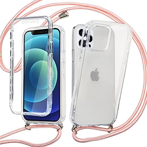 ZhuoFan Custodia con Cordino per Samsung Galaxy A32 (5G) 6,5', 360 Gradi Necklace Cordoncino Case Regolabile Soft TPU Bumper Trasparente Ultra Sottile Silicone Custodia per Samsung A32 Cover