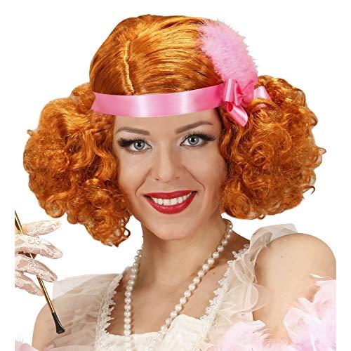 WIDMANN Parrucche Charleston Anni 20 Ruggenti Rosse In Scatola Parrucca Donna 268