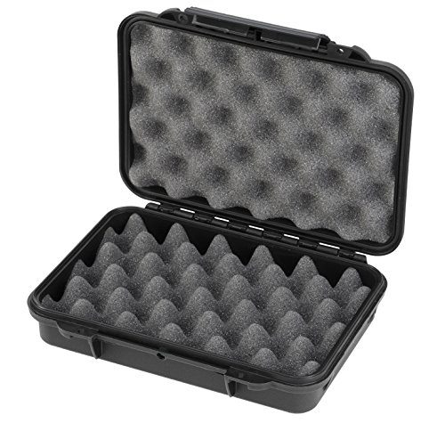 Max Cases - Scatola a Tenuta Stagna, Ermetica con Spugne Bugnate per Trasportare e Proteggere Apparecchiature e Materiali Sensibili, MAX002S, Dimensioni Interne 212 x 140 x 47 mm