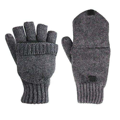 Guanti in lana di cashmere lavorati a maglia, unisex, mezze dita/muffole