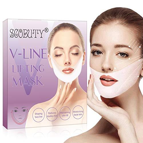 V Line Mask,V-shape Mask,V Shaped Slimming Mask,V Shaped Mask,V Line Lifting Mask,V Line Face Mask,Sollevare e Rassodare, Ridurre Il Doppio Mento, Idratare