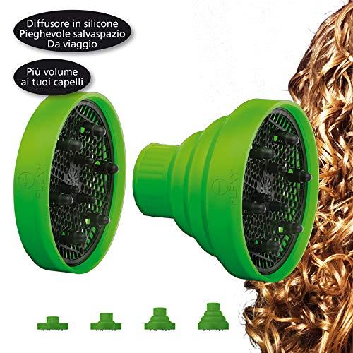 MACOM Sensation 210 Flexy Diffusore Capelli da Viaggio Universale in Silicone, Colori Assortiti
