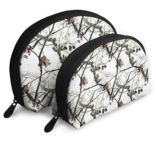 Portable Shell Makeup Storage Bags White Realtree Camo Art Travel Waterproof Toiletry Organizer Clutch Pouch for Women