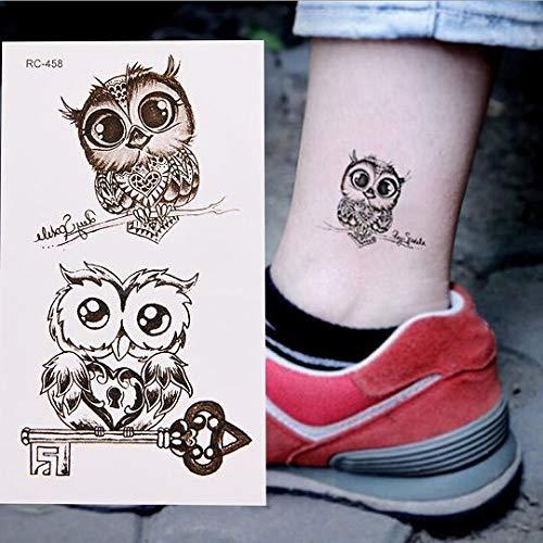 Zcm Autoadesivi del Tatuaggio Impermeabile Autoadesivo provvisorio Gufo del Braccio del Corpo della Caviglia Uomini Donne simulano i Tatuaggi Acqua trasferimento Adesivi (Color : 3)