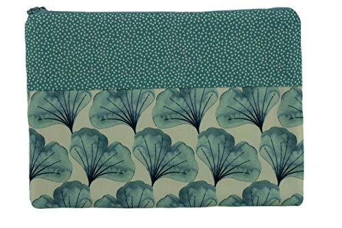 Lilli Löwenherz - Beauty case fatto a mano, motivo a pois, colore: Blu