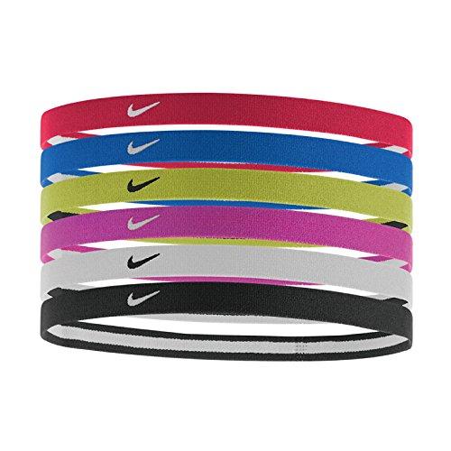 Nike Swoosh - Fascetta per Capelli, Unisex, 9318-951, University Red/Game Royal/Volt, Taglia Unica (Uomo)