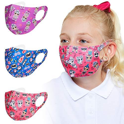 L.O.L. Surprise! Mascherina Lavabile Per Bambini, Pacco Da 3 Mascherine Colorate, Maschera In Tessuto Accessori Lol Originali, Maschere Riutilizzabili Alla Moda Per Bambina