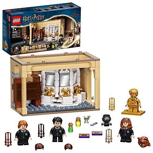 LEGO Harry Potter Hogwarts: Errore della Pozione Polisucco, Castello Giocattolo con Minifigure d'Oro del 20° Anniversario, 76386