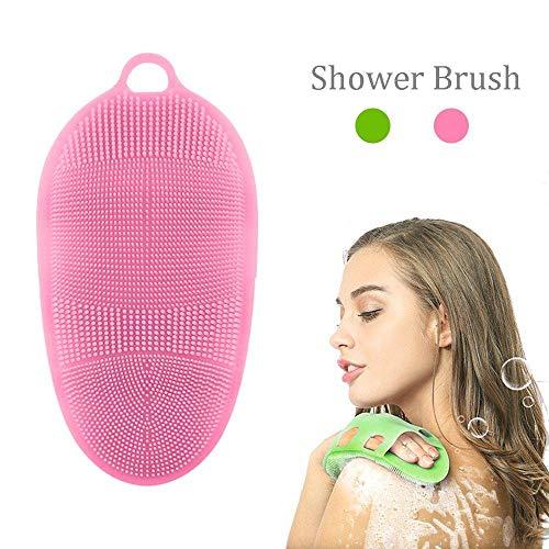 KAIMENG Massaggio Completo per Il Corpo Spazzola esfoliante Bagnodoccia per Il Bagno Guanti per Il Viso Detergente per Pelli sensibili
