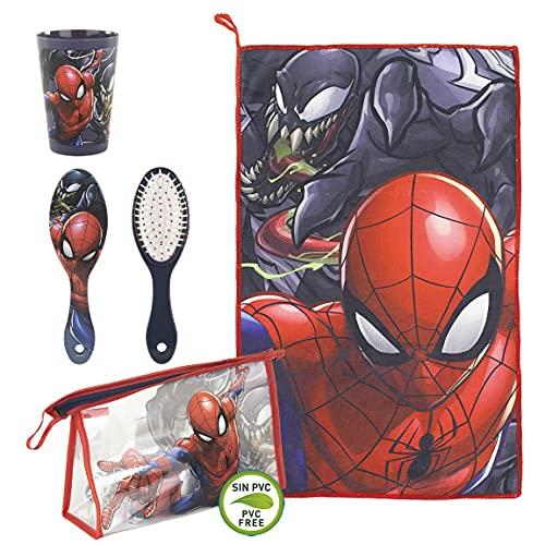 Cerdá - Beauty Case da Viaggio per Bambini di Spiderman - Licenza Ufficiale Marvel