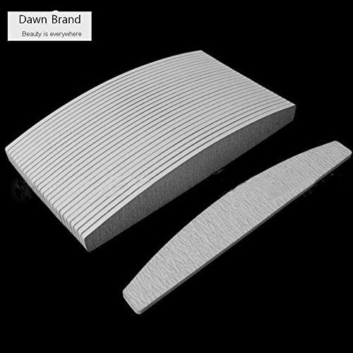 Carta vetrata grigia 100/180 levigatura per mattoncino da unghie, 10 pezzi per confezione, adesivo lavabile doppio spesso,strumenti per nail art da manicure e pedicure