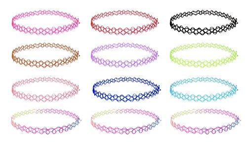 """Set di collane a girocollo """"4U"""", per ragazza, donna e bambina (gioielleria alla moda, bigiotteria) Colorato."""