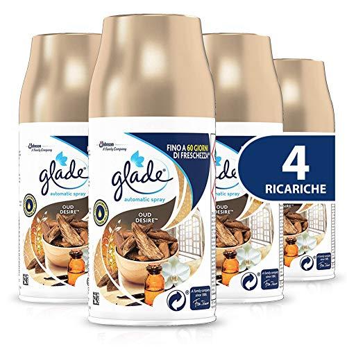 Glade Automatic Spray Ricarica, Fragranza Oud Desire, Formato Scorta, 1 Confezione da 4 x 269 ml