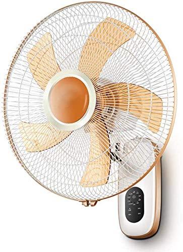 Knoijijuo Ventilatore A Parete con 3 M di Cavo di Alimentazione, Casa Oscillante con Telecomando, 12 Pollici