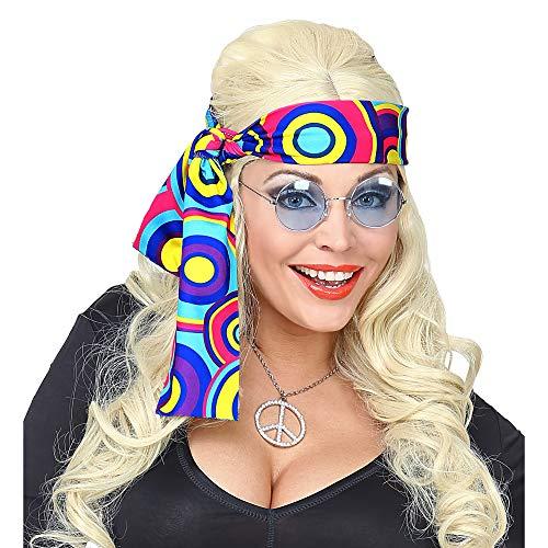 WIDMANN 09281 - Fascia per capelli anni '70, da donna, multicolore