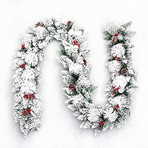 ZHongWei - Corona di Natale Natale Vite del Fiore, Natale Forniture 2,7 M della Decorazione di Natale Rattan crittografia Ciondolo Shopping Mall Tatuaggi Alberi di Natale (Size : A)