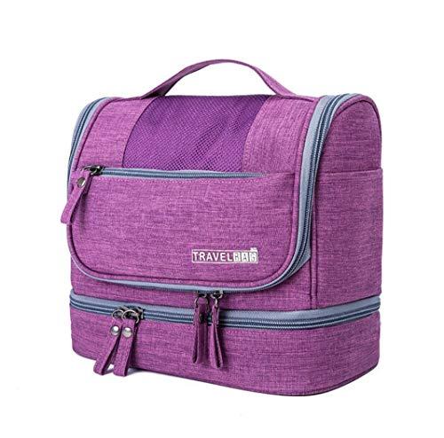 CYBERNOVA Trousse da viaggio, kit grande organizzatore cosmetico impermeabile, borsa compatta da toilette perfetta per uomo e donna (viola)