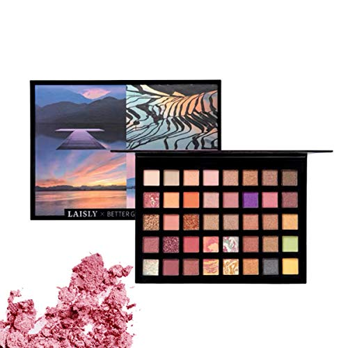 Palette di Ombretti 40 Colori Altamente Pigmentato e Glitter Metallizzato Ombretto Occhi Lucidi Impermeabili Eyeshadow Palette Per Regalo Donna