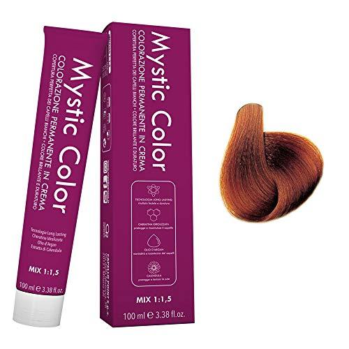 Mystic Color - Colore Biondo Rame Dorato 7.43 - Tinta per Capelli - Colorazione Professionale in Crema a Lunga Durata - Con Cheratina Idrolizzata, Olio di Argan e Calendula - 100 ml