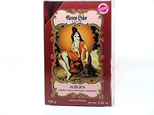 Tintura per capelli all'hennè in polvere, naturale, castano ramato