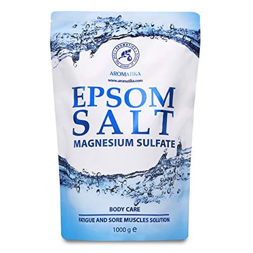Sali di Epsom 1kg - 100% Magnesio Naturale - Lenitivo e Allevia i Muscoli - Rilassamento e disintossicante - Cura del corpo - Miglior sonno - Pediluvio Massaggio