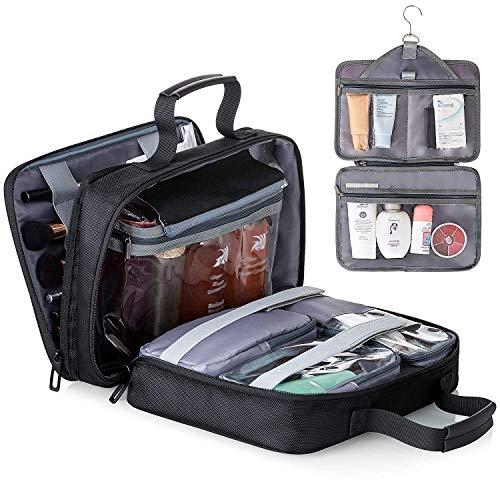 lfmn Hanging Toiletry Bag for Women Large Travel Accessories Organizer Kit Waterproof Makeup Cosmetic Bag