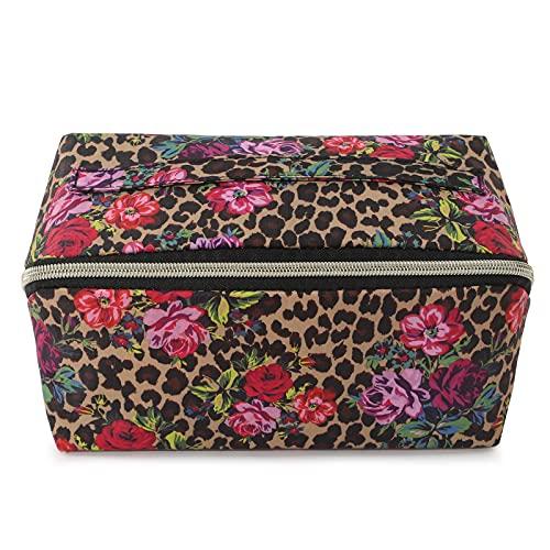 Dizdvizd Beauty Case da Viaggio per Donne , Borsa da Toilette, Trousse Trucchi Cosmetici Organizer - Leopard