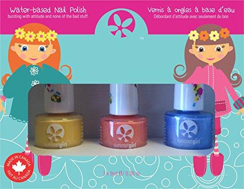 Suncoat Girl egg-spiration Kit di 3smalti unghie all' acqua per bambino
