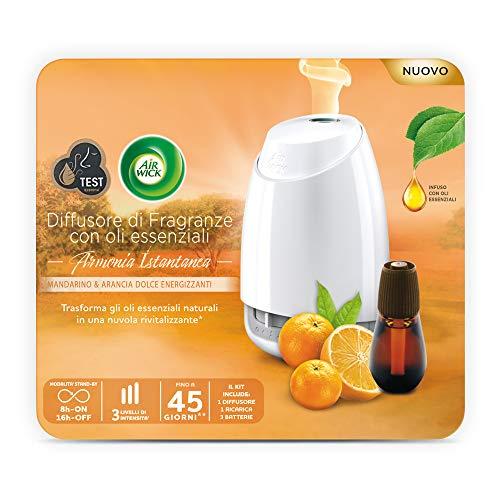 Air Wick Diffusore di Oli Essenziali Confezione con 1 Profumatore, 1 Ricarica Fragranza e 3 Batterie