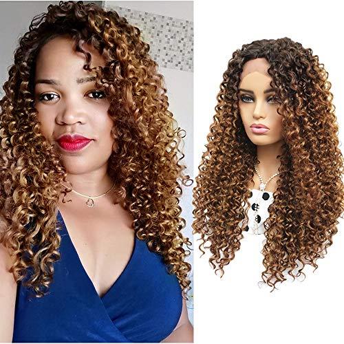 Parrucca donna riccia parrucca bionda lunga donna nera parrucca lace front parrucca realistica hair wigs con radici marroni