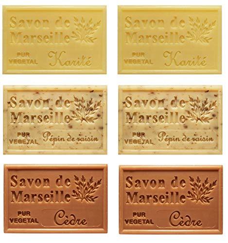 Piccolo Stock 6 (sei) pezzi Saponetta di Marsiglia 125g Profumazioni miste 6 pz x 125g