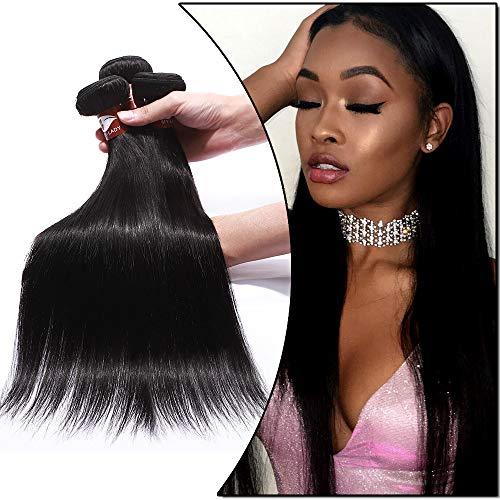 MY-LADY Extension Capelli Veri Tessitura Lisci 60cm 60cm 60cm 3 Bundles 300g 100% Remy Human Hair Extension Matassa Cucitura