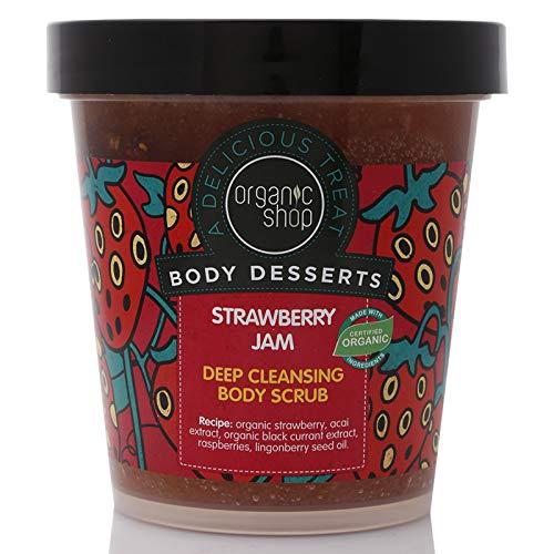 Organic Shop Body Desserts Confettura di Fragole Profonda Scrub Corpo 450 ml