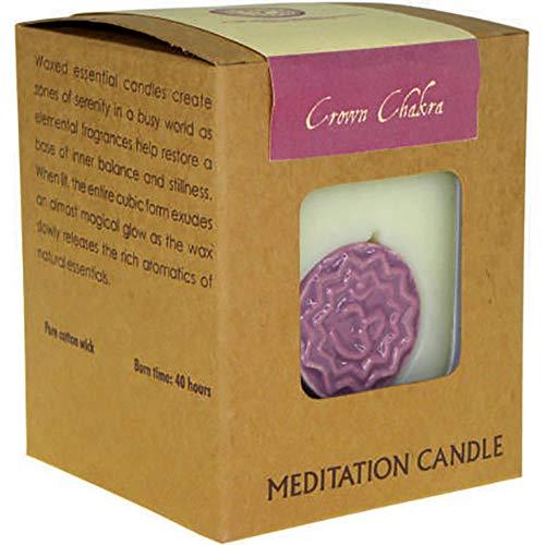 Candela profumata in Cera di soia Chakra, in Confezione Regalo, Lunga Durata dalla Nostra Gamma aromatica Chakra. Crown