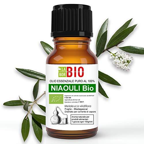 Olio essenziale NIAOULI BIO 10ML 100% PURO E NATURALE - AROMATERAPIA COSMETICA ALIMENTARE
