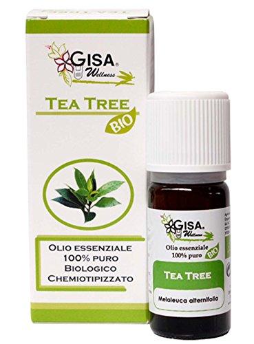 TEA TREE Olio Essenziale Bio, 100% Puro e Naturale, [10ml], Aroma Alimentare, per Aromaterapia, Massaggi, Cura della Persona, Benessere, Relax, Diffusione Ambientale